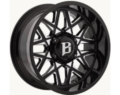 Ballistic Wheels 819 Spider Painted Gloss Black with Milled Accents