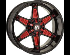 Ballistic Wheels 827 Warrior Painted Gloss Black