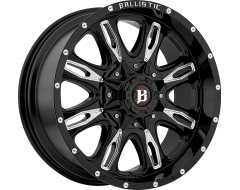 Ballistic Wheels 953 Scythe Painted Gloss Black with Milled Accents