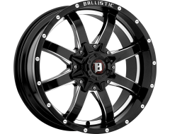 Ballistic Wheels 955 Anvil Painted Gloss Black with Milled Accents