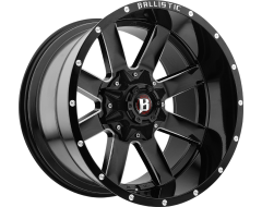 Ballistic Wheels 959 Rage Painted Gloss Black with Milled Accents
