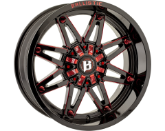 Ballistic Wheels 963 Gladiator Painted Gloss Black with Milled Accents