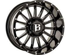 Ballistic Wheels 964 Machete Painted Gloss with Milled Accents