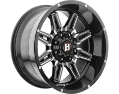 Ballistic Wheels 965 Catapult Painted Gloss with Milled Accents