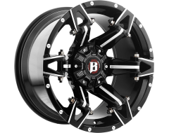 Ballistic Wheels 966 Spartan Painted Gloss with Milled Accents