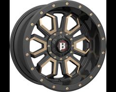 Ballistic Wheels 967 Saber Painted Matte Black Bronze Accents
