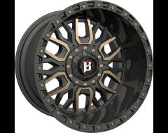 Ballistic Wheels 969 Tomahawk Painted Matte Black Bronze Accents