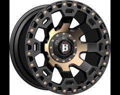 Ballistic Wheels 975 Moab Painted Matte Black Bronze Accents