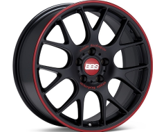 BBS Wheels CHR Satin Black Red Rim Protector