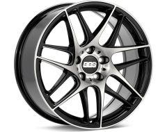 BBS Wheels CXR Black with Diamond Cut Face Clear Protective Top Coat
