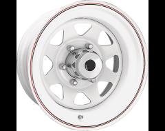 Ceco Wheels 8-Spoke Steel Wheel Series 70 White