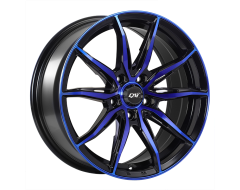 DAI Wheels Frantic Tuning Gloss Black Machined Blue Face