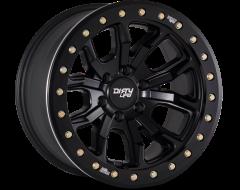 Dirty Life Wheels DT-1 9303 Matte Black Black Simulated Beadlock Ring