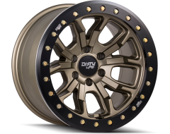 Dirty Life Wheels DT-1 9303 Satin Gold with Simulated Beadlock Ring