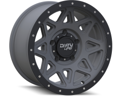 Dirty Life Wheels THEORY 9305 Matte Gunmetal with Matte Black Lip