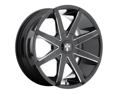 DUB Wheels S109 PUSH Gloss Black Milled Spokes