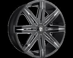 DUB Wheels S227 STACKS Gloss Black Milled Spokes