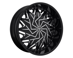 DUB Wheels S231 DAZR Gloss Black Milled Spokes