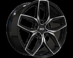 EURO DESIGN Wheels Forza Gloss Black Milled Spokes