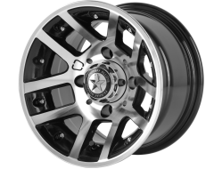 Fairway Alloys FA121 ILLUSION Gloss Black Machined