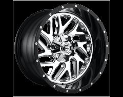 Fuel Off-Road Wheels D211 TRITON Chrome Gloss Black Lip