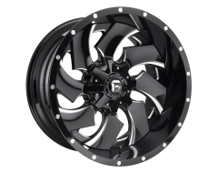 Fuel Off-Road Wheels D239 CLEAVER Gloss Black Milled Spokes