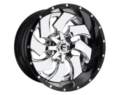 Fuel Off-Road Wheels D240 CLEAVER Chrome Gloss Black Lip