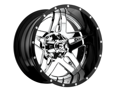 Fuel Off-Road Wheels D243 FULL BLOWN Chrome Gloss Black Lip