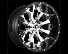 Fuel Off-Road Wheels D246 ASSAULT Chrome Gloss Black Lip
