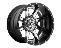 Fuel Off-Road Wheels D247 RAMPAGE Chrome Gloss Black Lip