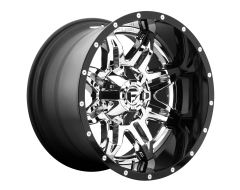 Fuel Off-Road Wheels D266 LETHAL Chrome Gloss Black Lip