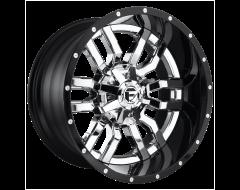 Fuel Off-Road Wheels D270 SLEDGE Chrome Gloss Black Lip