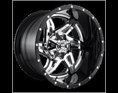 Fuel Off-Road Wheels D272 ROCKER Chrome Gloss Black Lip