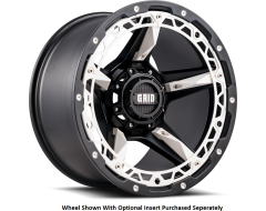 GRID Wheels GD04 Painted Matte Black White Insert