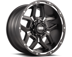 GRID Wheels GD07 Painted Matte Black with Milled Accents