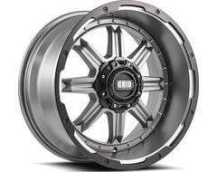 GRID Wheels GD10 Painted Matte Black Black Lip