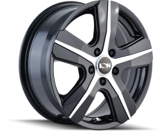 Ion Wheels 101 Gloss Black Machined Face