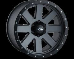 Ion Wheels 134 Matte Gunmetal Black Beadlock