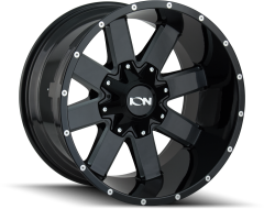 Ion Wheels 141 Gloss Black Milled Spokes