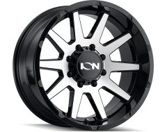 Ion Wheels 143 Gloss Black Machined Face