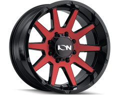 Ion Wheels 143 Gloss Black Red Machined