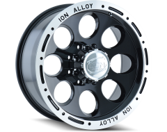 Ion Wheels 174 Black Machined Lip