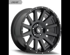 LRG 107 Series Matte Black Powder Coated