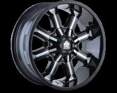 Mayhem Wheels BEAST 8102 Black Milled Spokes