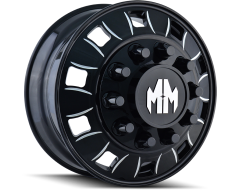 Mayhem Wheels BIGRIG 8180 Black Milled Spokes Front
