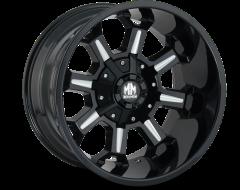 Mayhem Wheels COMBAT 8105 Gloss Black Milled Spokes
