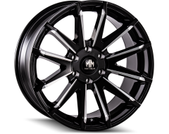 Mayhem Wheels CROSSFIRE 8109 Gloss Black Milled Spokes