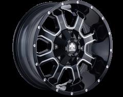 Mayhem Wheels FIERCE 8103 Gloss Black Milled Spokes