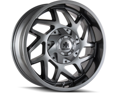 Mayhem Wheels HATCHET 8106 Gloss Gunmetal with Black