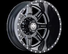 Mayhem Wheels MONSTIR 8101 Black Milled Spokes